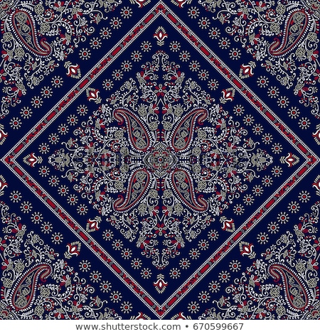Vector ornament Bandana Print. Traditional ornamental ethnic pattern with paisley and flowers. Silk  Stock photo © sanyal