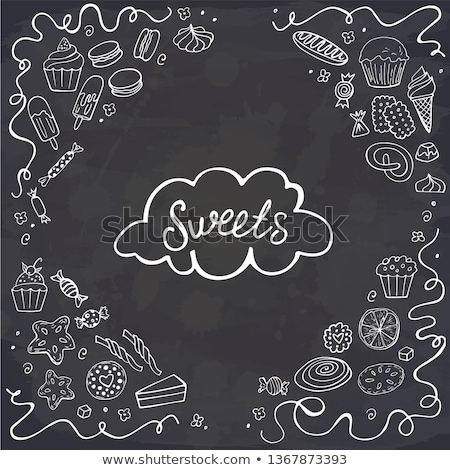 bakkerij · communie · ingesteld · voedsel · ontwerp · cake - stockfoto © balabolka