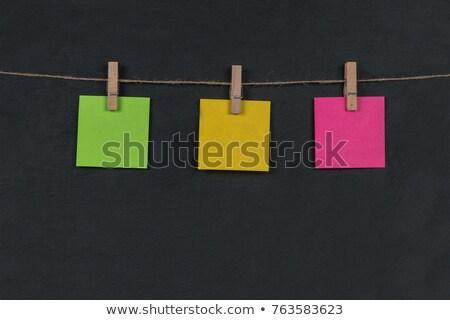 Três nota pegajosa textura fundo Foto stock © Freedomz
