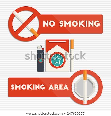 palenia · papierosów · ikona · wektora · drewna - zdjęcia stock © netkov1