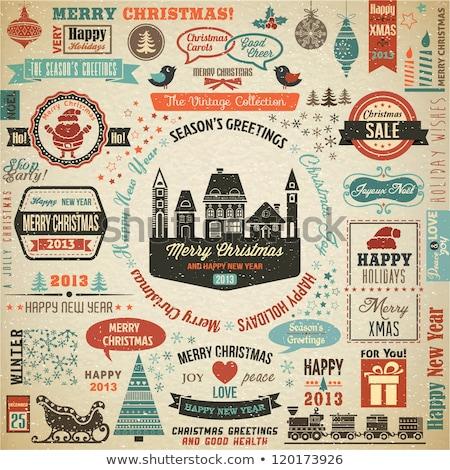 karácsony · vásár · karácsony · kalligráfia · szett · tipográfia - stock fotó © netkov1