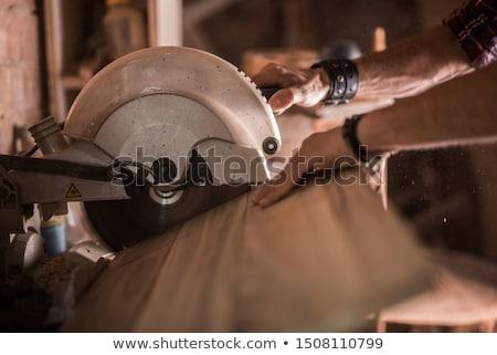 Lavoro visto legno workshop professione carpenteria Foto d'archivio © dolgachov