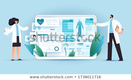 Medical full body screening software on tablet Stock photo © ra2studio