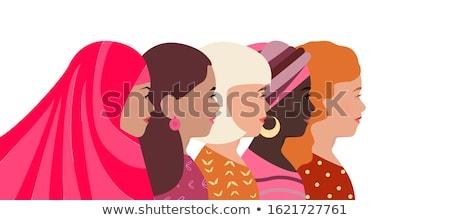 tarjeta · de · felicitación · día · de · la · mujer · madres · día · resumen · madre - foto stock © robuart