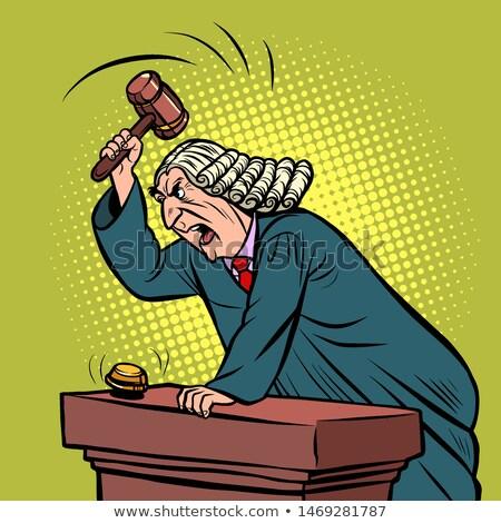 mantle judge adjudicates in courtroom Stock photo © rogistok