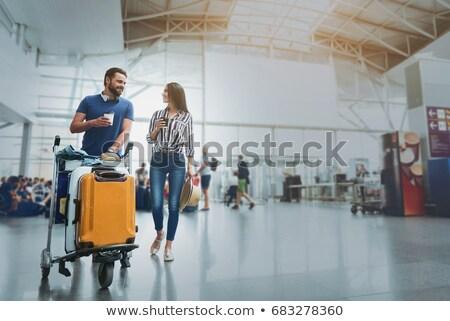 Para bagażu lotniska człowiek kobieta ludzi Zdjęcia stock © robuart