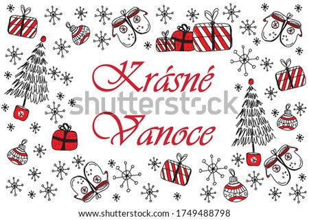 Christmas wreath on white background, vector illustration. Stock photo © ikopylov