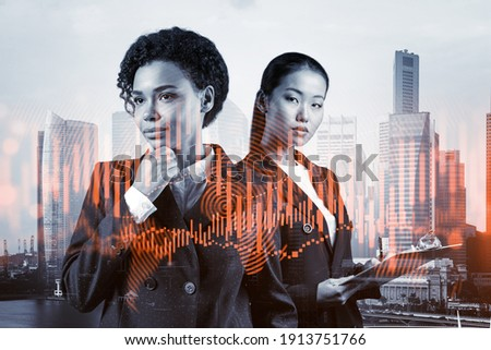 two businesswoman with with earnings stock photo © vladacanon