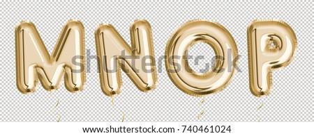 Arany 3D buli léggömb ábécé levél Stock fotó © cienpies