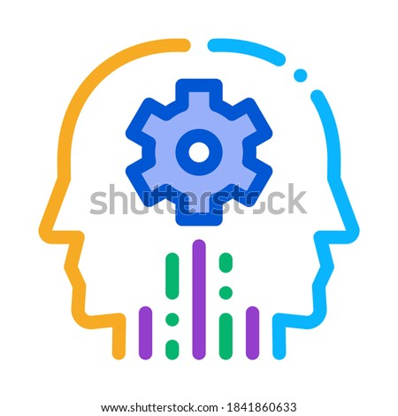 cerebral hemisphere settings icon vector outline illustration Stock photo © pikepicture