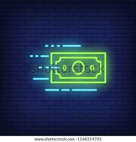 Financiar néon etiqueta negócio promoção Foto stock © Anna_leni