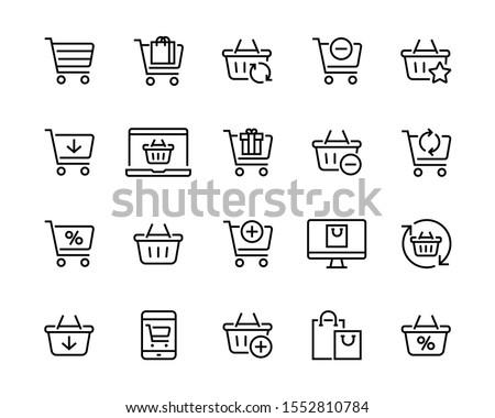 online shopping basket market commerce discount Stock photo © yupiramos