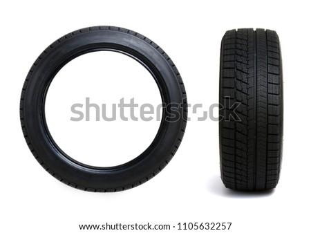 Set of car winter tires isolated Stock photo © dmitry_rukhlenko