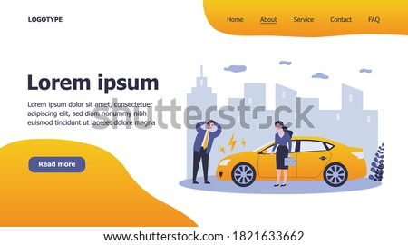 Stress concept landing page Stock photo © RAStudio