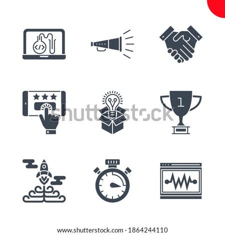 Kampania chronometraż wektora ikona usług odizolowany Zdjęcia stock © smoki