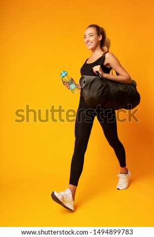 Woman going to the gym Stock photo © photography33