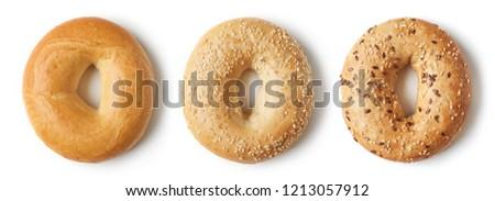 全粒小麦 · ベーグル · 孤立した · 白 · パン · 小麦 - ストックフォト © devon