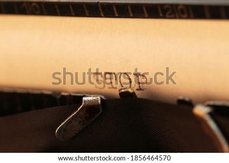 Stop on Old Typewriter's Keys. Stock photo © tashatuvango