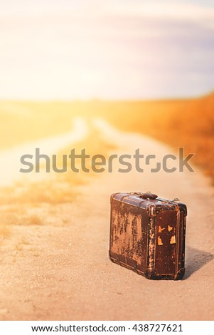 Abandoned Suitcase Stock photo © idesign