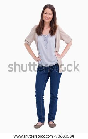 женщину Постоянный стороны бедро связи Сток-фото © imagedb