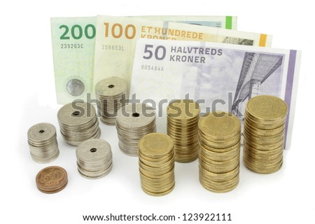 Different coins of Danish money Stock photo © CaptureLight