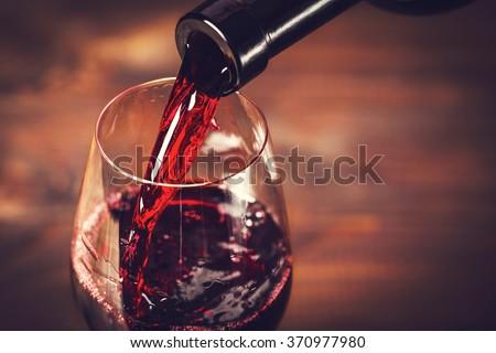 Garrafa vinho tinto vidro beber Foto stock © compuinfoto