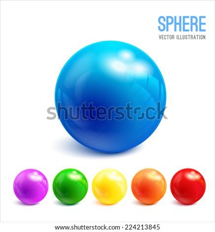 Abstract green 3D spheres Stock photo © gravityimaging