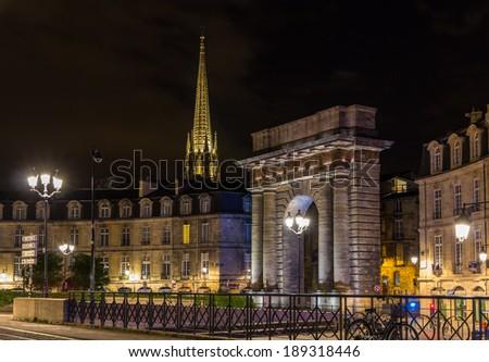 Bordeau város kék utazás éjszaka napfelkelte Stock fotó © benkrut