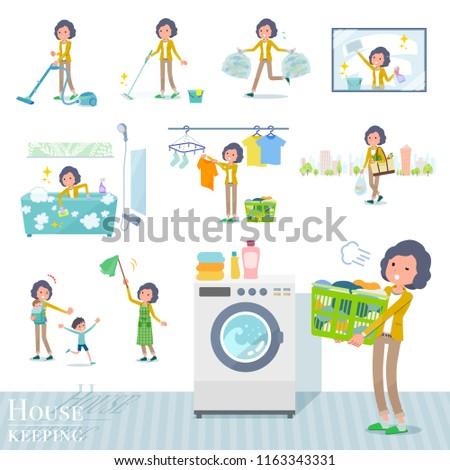 Yellow jacket Middle women_Housekeeping stock photo © toyotoyo