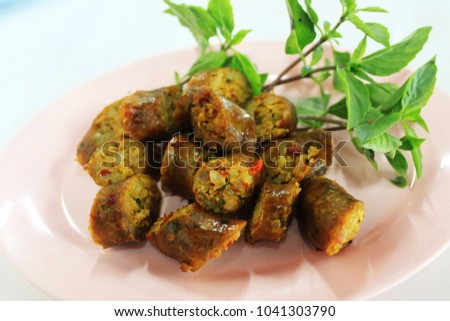 thai · vermelho · caril · salsichas · comida · jantar - foto stock © Alex9500