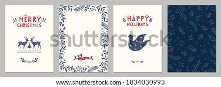 neşeli · Noel · tebrik · kartı · şablon · noel · önemsiz · şey - stok fotoğraf © barsrsind