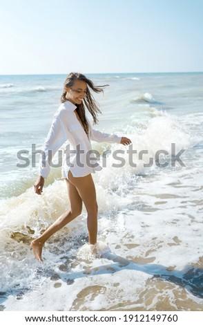 Feminino alegria liberdade viver vida completo Foto stock © lovleah