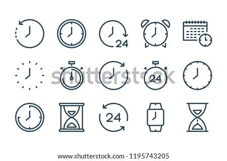 Tempo vetor ícones teia usuário Foto stock © ayaxmr