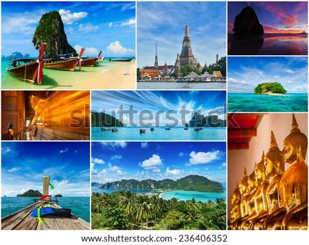 Collage Tailandia tailandés viaje turismo Foto stock © dmitry_rukhlenko