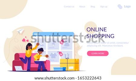 Online vásárlás fogyasztói társadalom internet kiskereskedelem üzlet kereskedelmi Stock fotó © RAStudio