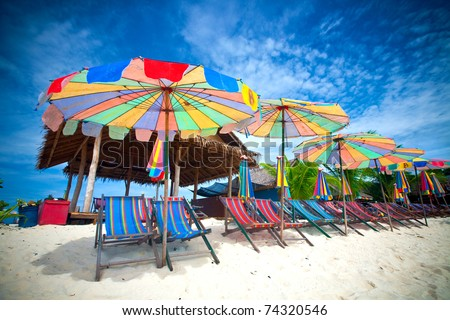 Тропический остров ресторан Таиланд океана таблице Бар Сток-фото © smithore