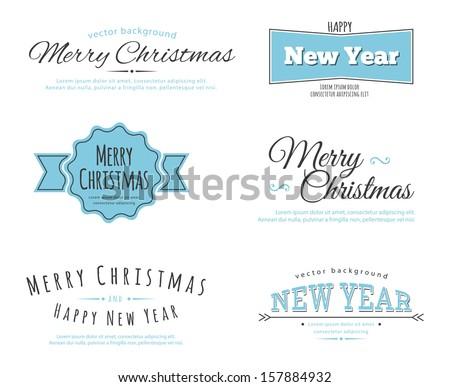 2014 Merry Christmas Vintage typo background Stock photo © DavidArts