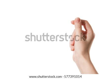 Kéz tart papír kommunikáció kártya fehér Stock fotó © oly5
