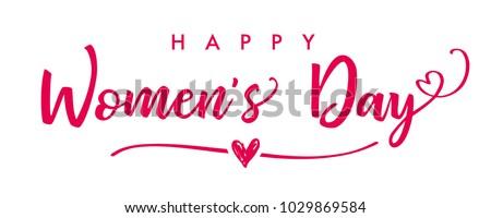 Feliz día de la mujer ilustración cara dama nina Foto stock © vectomart