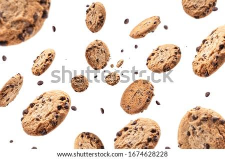 klein · cookies · geïsoleerd · witte · frame · tarwe - stockfoto © vapi
