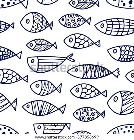 Sablon aranyos hal illusztráció természet háttér Stock fotó © colematt