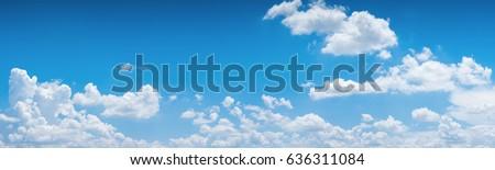Blauer Himmel Wolken natürlichen Landschaft Frühling Stock foto © OleksandrO