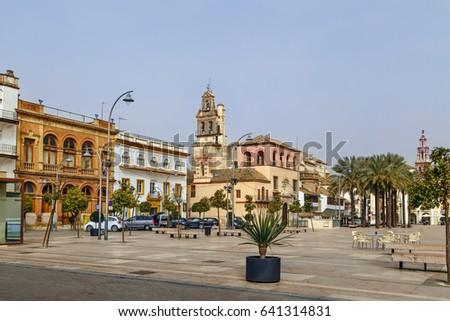 Spanyolország fő- tér templom építészet történelem Stock fotó © borisb17