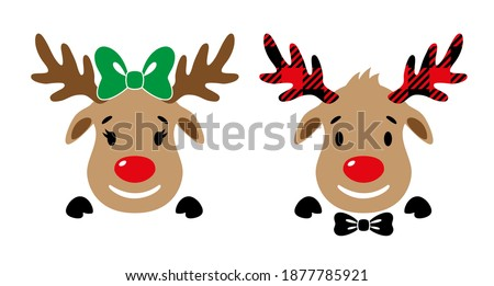 Christmas Reindeer Cartoon Character Stock photo © Krisdog