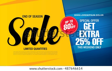 Sale banner flyer template Stock photo © orson