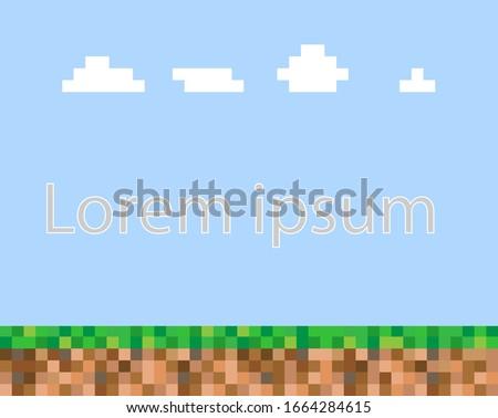 Abstract square pixel mosaic background.  Stock photo © ukasz_hampel