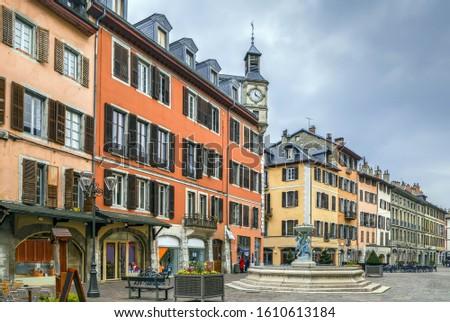 Street In Chambery France Stockfoto © Borisb17