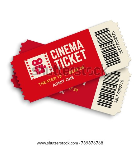 Vector movie ticket symbol icon Stock photo © nickylarson974