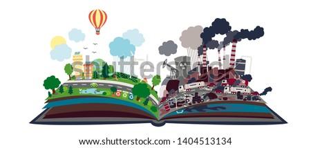 開いた本 再生可能エネルギー 碑文 図書 教育 ストックフォト © ra2studio