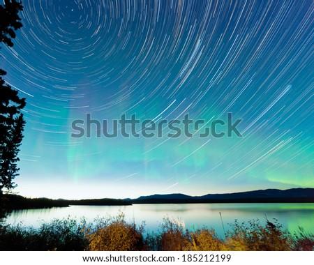 Saskatchewan · tó · tükröződés · Kanada · felhők · természet - stock fotó © pictureguy